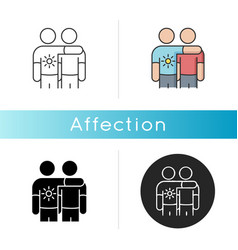 Affection icon vector