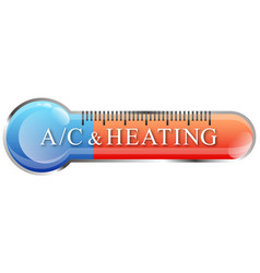 Air conditioning and heating thermometer symbol vector