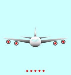 Airplane it is icon vector