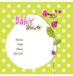 Baby shower car vector