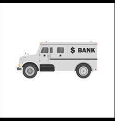 Bank armored cash truck side view utility vector