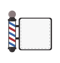 barber shop emblem icon vector image