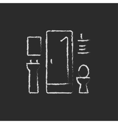 Bathroom icon drawn in chalk vector