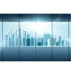 big window with views city vector image