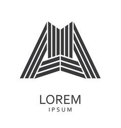 black abstract logo vector image