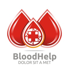 Blood help medical donors healthy symbol vector