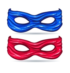 Blue and red mask for face character super hero in vector