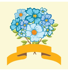 Bouquet of blue flowers vector image