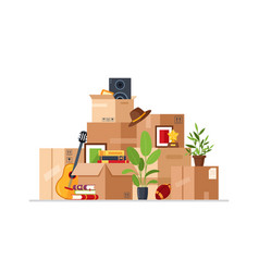 boxes for home moving vector image