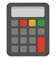 calculator with buttons device for calculation vector image