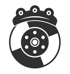 Car brake disc icon simple style vector