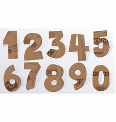 cardboard numbers vector image