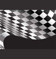 Checkered flag flying black design race sport vector
