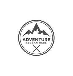 classic adventure mountain logo icon design vector image