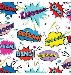 comic speech pop art bubbles and splashes vector image