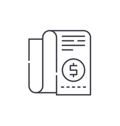 company budget line icon concept company budget vector image