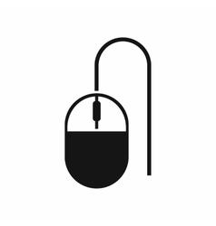 Computer mouse icon simple style vector image