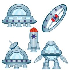 Cosmic flying machines vector