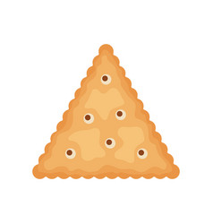 Cracker chips triangle shape isolated on white vector