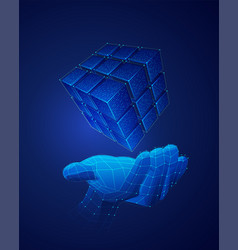cubeholding vector image