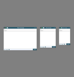 email template window mail in browser vector image