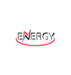 energy font logo energy text logotype vector image