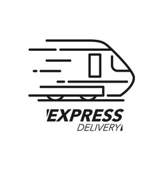 express delivery icon concept train speed icon vector image