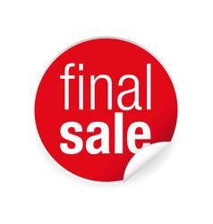 final sale label tag sign vector image