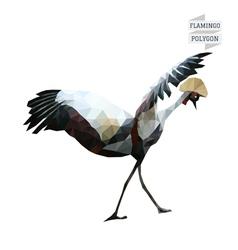 Flamingo polygon vector