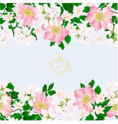 Floral border seamless vertical background vector