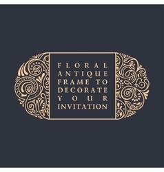 Floral calligraphic frame Design for vector