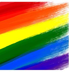 Gay or lgbt flag grunge background vector