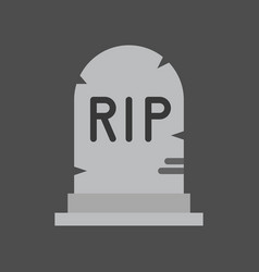 Gravestone with rip alphabet halloween related vector