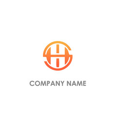 H initial round business logo vector