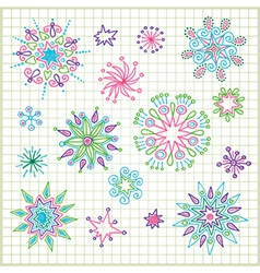 hand draw doodle star element set vector image vector image