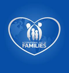International day of families logo icon design vector