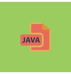 Java development file format flat icon vector