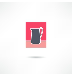 Jug icon vector