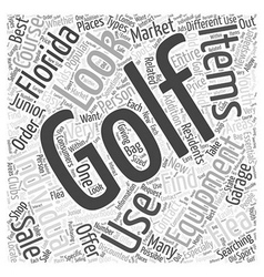 Junior Used Golf Course Equipment Florida Word vector