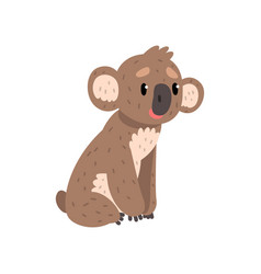 Koala bear sitting on the ground cute australian vector