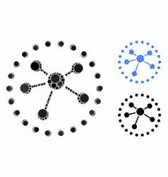 Links diagram composition icon circles vector