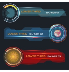 Lower third banners vector