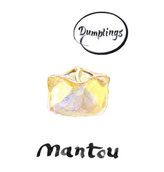 mantou dumpling traditional met of central asia vector image
