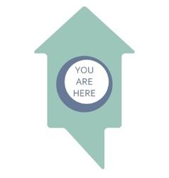 Map marker home shape vector