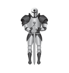Metal knight armour isolated on vector
