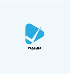 Music playlist logo design template vector