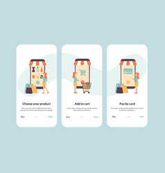 onboarding shopping vector image