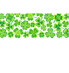 patrick day background with stylized shamrock vector image