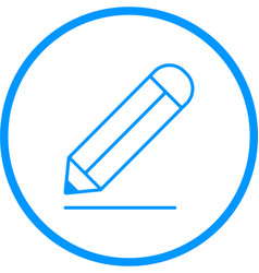 pencil line icon vector image