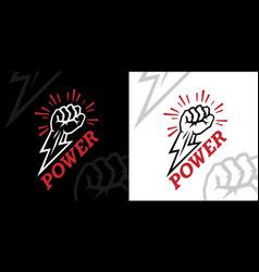 Power fist icon vector